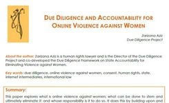 Due Diligence & Accountability for Online Violence Against Women