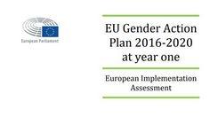 EU Gender Action Plan 2016-2020 at Year One: European Implementation Assessment
