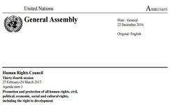 Illegal Adoptions - UN Special Rapporteur Report 2017