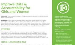 Improve Data & Accountability for Girls & Women