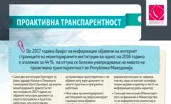 Оцена на степенот на проактивна транспарентност на јавните институции во РМ за 2017 година