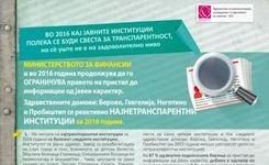 Нивото на реактивна транспарентност на јавните институции во 2015 наспроти 2016 година