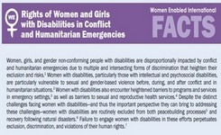 Rights of Women & Girls with Disabilities in Conflict & Humanitarian Emergencies