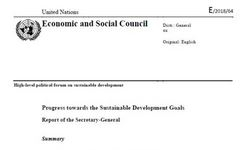 UN High Level Forum on Sustainable Development - Secretary-General's Report - Goal 5: Gender Equality & Empowerment