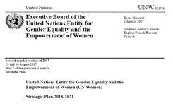UN Women Strategic Plan 2018-2021