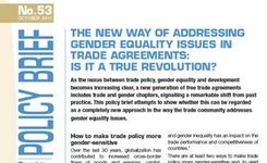 Addressing Gender Equality Issues in Trade Agreements