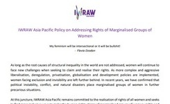 Addressing Rights of Marginalised Groups of Women - IWRAW AP