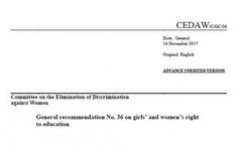 CEDAW Committee General Recommendation No. 36 on Girls' & Women's Right to Education
