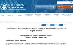 Confronting Sexual Violence, Demanding Equality - UN Women's Human Rights Experts