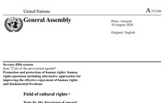 Cultural Rights & Climate Change - Cultural Rights of Women - UN SR Report