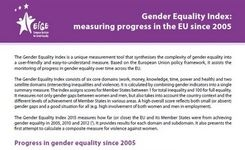 EU - Gender Equality Index: Measuring Progress in the EU Since 2005
