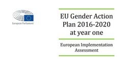 EU Gender Action Plan 2016-2020 at Year One: European Implementation Assessment