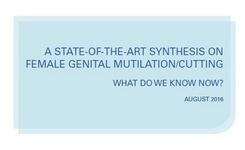Evidence to End FGM/C - Research Synthesis on Female Genital Mutilation/Cutting