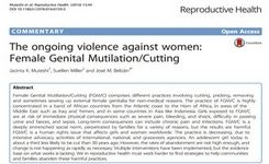 Female Genital Mutilation/Cutting: The Ongoing Violence Against Women – Research