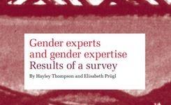 Gender Experts & Gender Expertise - Results of a Survey