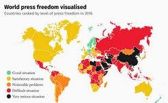 Global Press Freedom Country Index Ranking 2019
