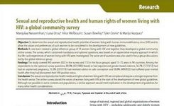 HIV/AIDS - Sexual & Reproductive Rights of Women Living with HIV: A Global Community Survey