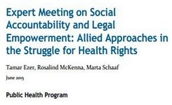 """Launching Working Paper - """"Social Accountability and Legal Empowerment: Allied Approaches in the Struggle for Health Rights"""""""