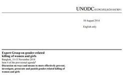 Report on National Measures Taken to Prevent, Investigate, Prosecute & Punish Gender-Related Killings of Women & Girls - UNODC