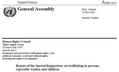Special Rapporteur Trafficking Report to the UN HRC 2018 - Analysis of Identification, Referral & Protection of Victims of Trafficking in Mixed Migration