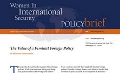The Value of a Feminist Foreign Policy – WIIS