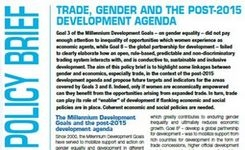 Trade, Gender & The Post-2015 Development Agenda