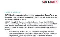 UNAIDS Creates an Independent Expert Panel on Addressing & Preventing Harassment, Including Sexual Harassment, Bullying & Abuse of Power
