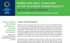 Women & Girls: Catalysing Action to Achieve Gender Equality - World Humanitarian Summit 2016