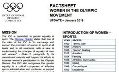 Women in the Olympic Movement - 2016 Factsheet