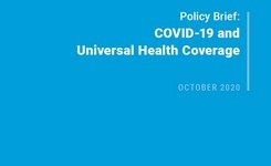COVID-19 & Universal Health Coverage - Gender